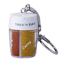Trek'n Eat Kryddströare med 4 fack med separata öppningar och nyckelring