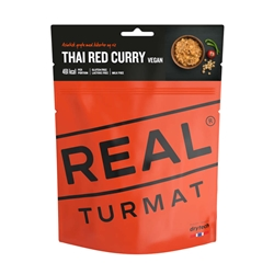 Real Turmat Vegan Thai Red Curry With Rice - Frystorkad, vegansk currygryta med ris