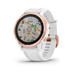 Garmin Fenix 6S Pro Rose Gold W/White Band Gps Watch